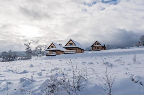 Dwie chatki wsiwej oprawie